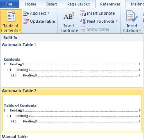Cara Membuat Daftar Isi pada Microsoft Word