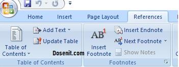 cara membuat daftar isi di microsoft word 2007