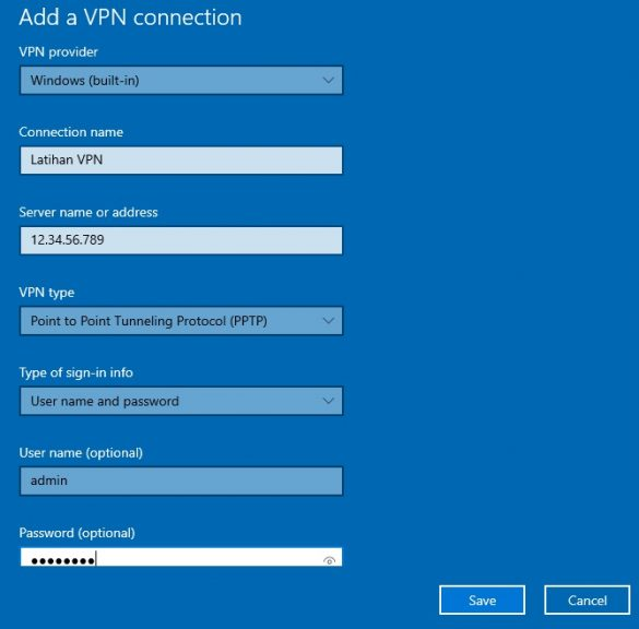 add vpn connection 3