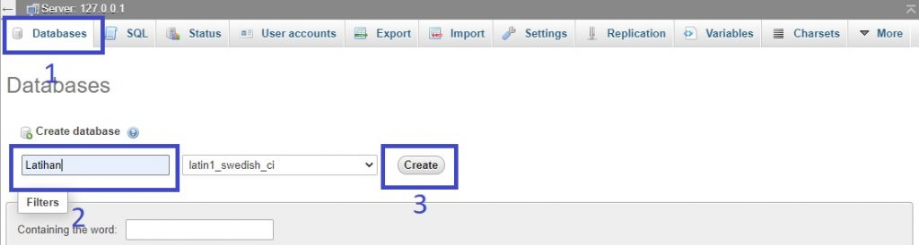 create databases