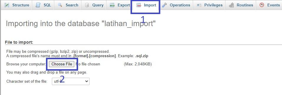 import db
