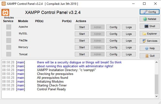 xampp-control-panel